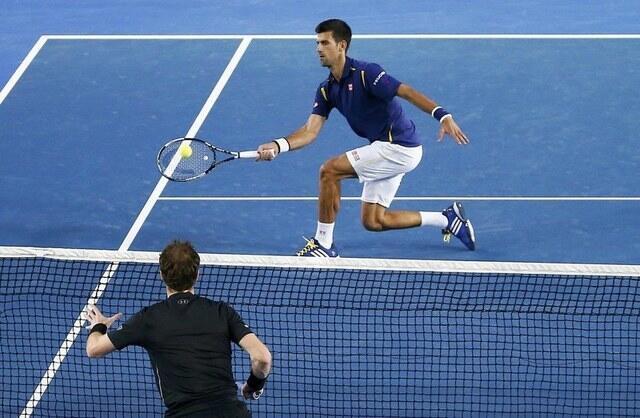 Final entre Novak Djokovic e Andy Murray, no Aberto da Austrália.