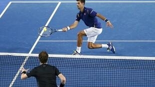 Final entre Novak Djokovic e Andy Murray, no Aberto da Austrália.