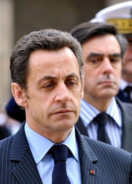 Le président  Nicolas Sarkozy et son Premier ministre François Fillon, en mars 2008.