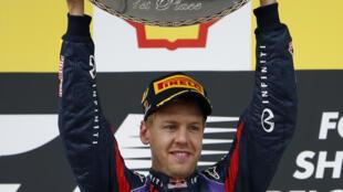 Sebastian Vettel venceu neste domingo o Grande Prêmio da Bélgica.