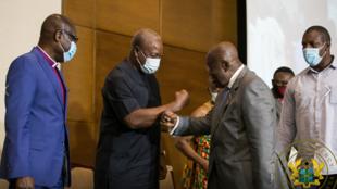 Wagombea wakuu wa urais nchini Ghana Nana Akufo-Ado na John Mahama wa chama cha NDC
