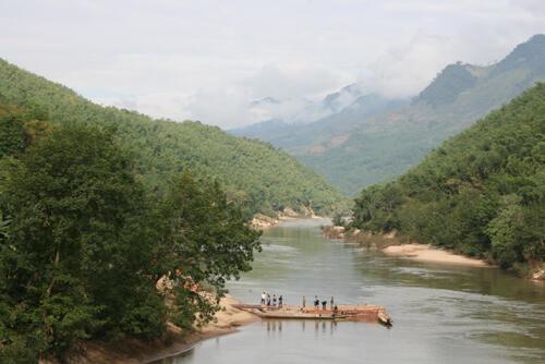 Địa điểm xây dựng nhà máy thủy điện Trung Sơn, thuộc huyện Quan Hóa, tỉnh Thanh Hóa.
