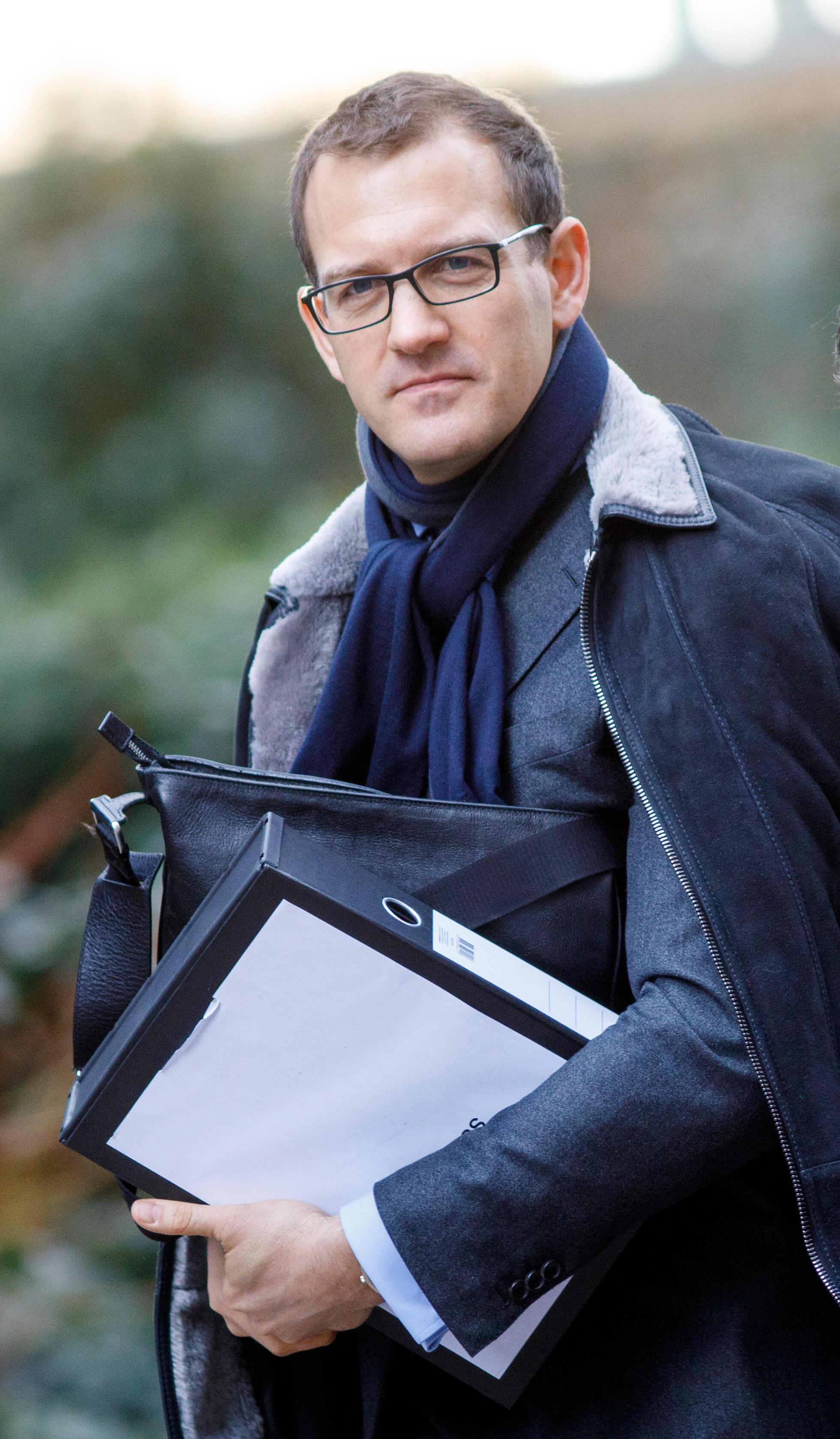 Le 8 mars 2018, Daniel Kretinsky, président du groupe énergétique EPH, à l'occasion d'une table ronde des chefs d'entreprise européens à Downing Street, Londres. Daniel Kretinsky est copropriétaire du groupe tchèque de médias Czech Media Invest (CMI).