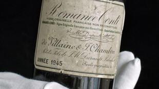 Romanée-Conti, considerado como el mejor vino francés de Borgoña.