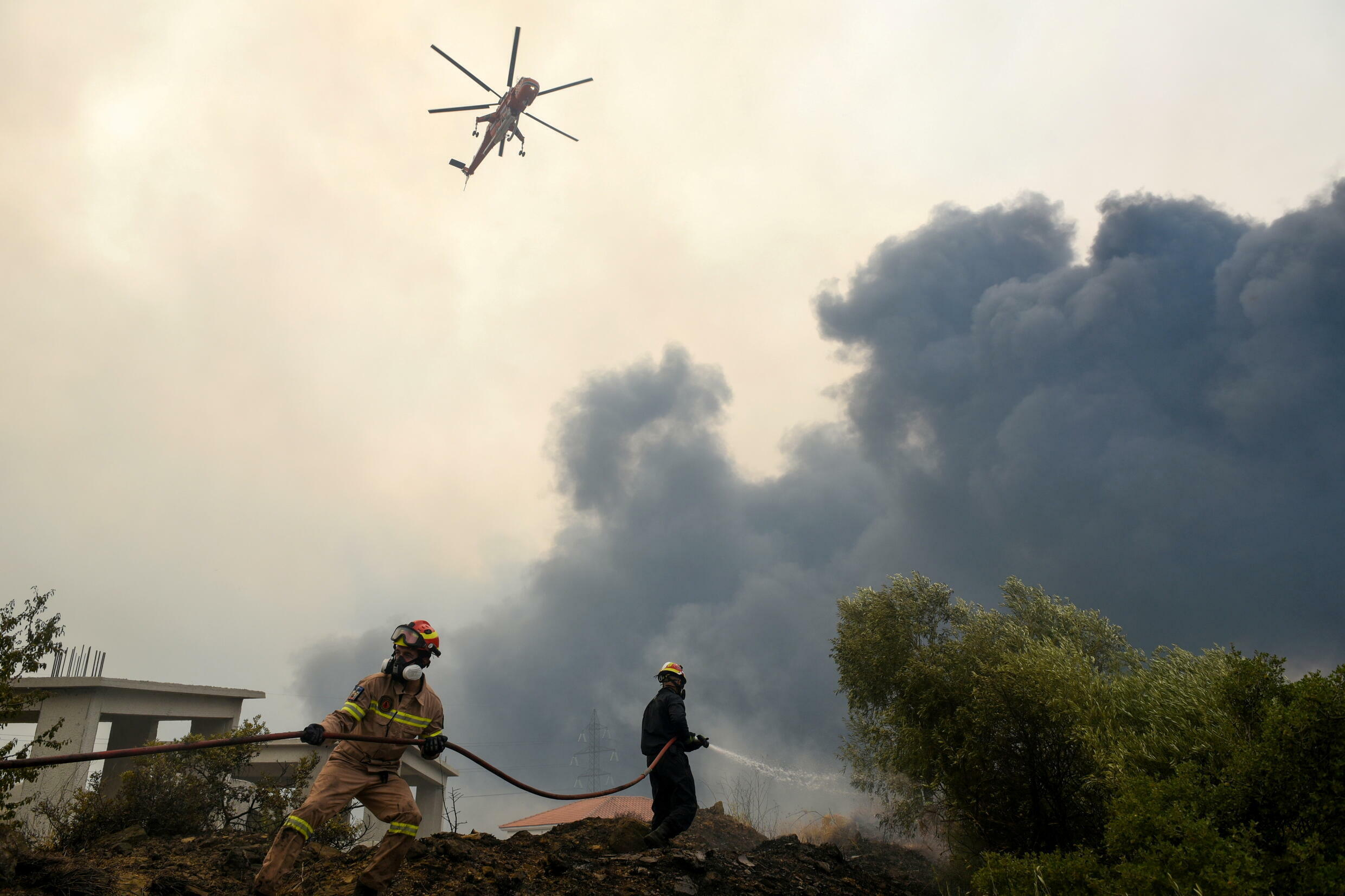Wildfires in Greece Feux