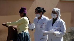 Enfermeras del Hospital General en La Paz, Bolivia, este 11 de julio de 2019.