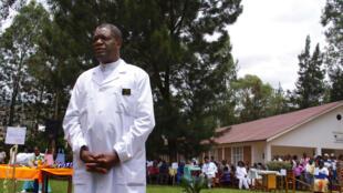 Dk Denis Mukwege hapa katika Hospitali ya Panzi Machi, 18, 2015.