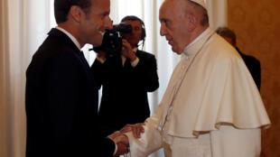 El papa Francisco recibió este martes al preisdente Emmanuel Macron.