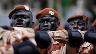 Wasu daga cikin dakarun sojin hadin gwiwar Burkina Faso da Ivory Coast
