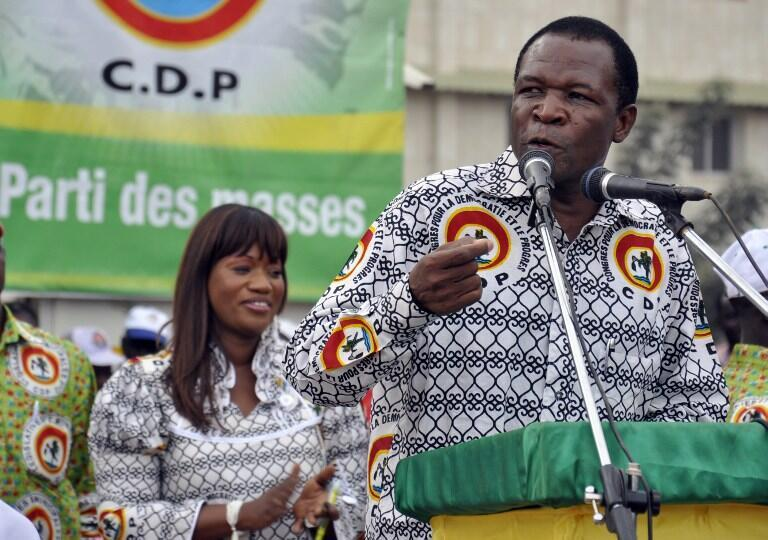 François Compaoré, while his brother Blaise was still president, in Ouagadougou in 2012