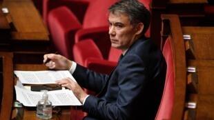 Le premier secrétaire du Parti socialiste, Olivier Faure, à l'Assemblée nationale le 28 avril 2020.