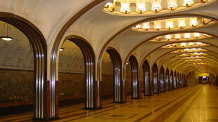 Estación de metro Mayakowska en Moscú