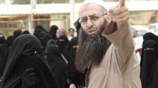 Le cheikh Ahmad el-Assir à Saïda, le 28 juin 2012.