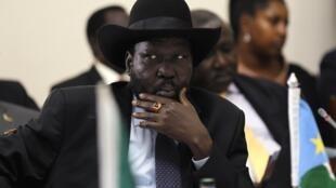 Le président sud-soudanais Salva Kiir, à Nairobi, le 11 mai 2014.