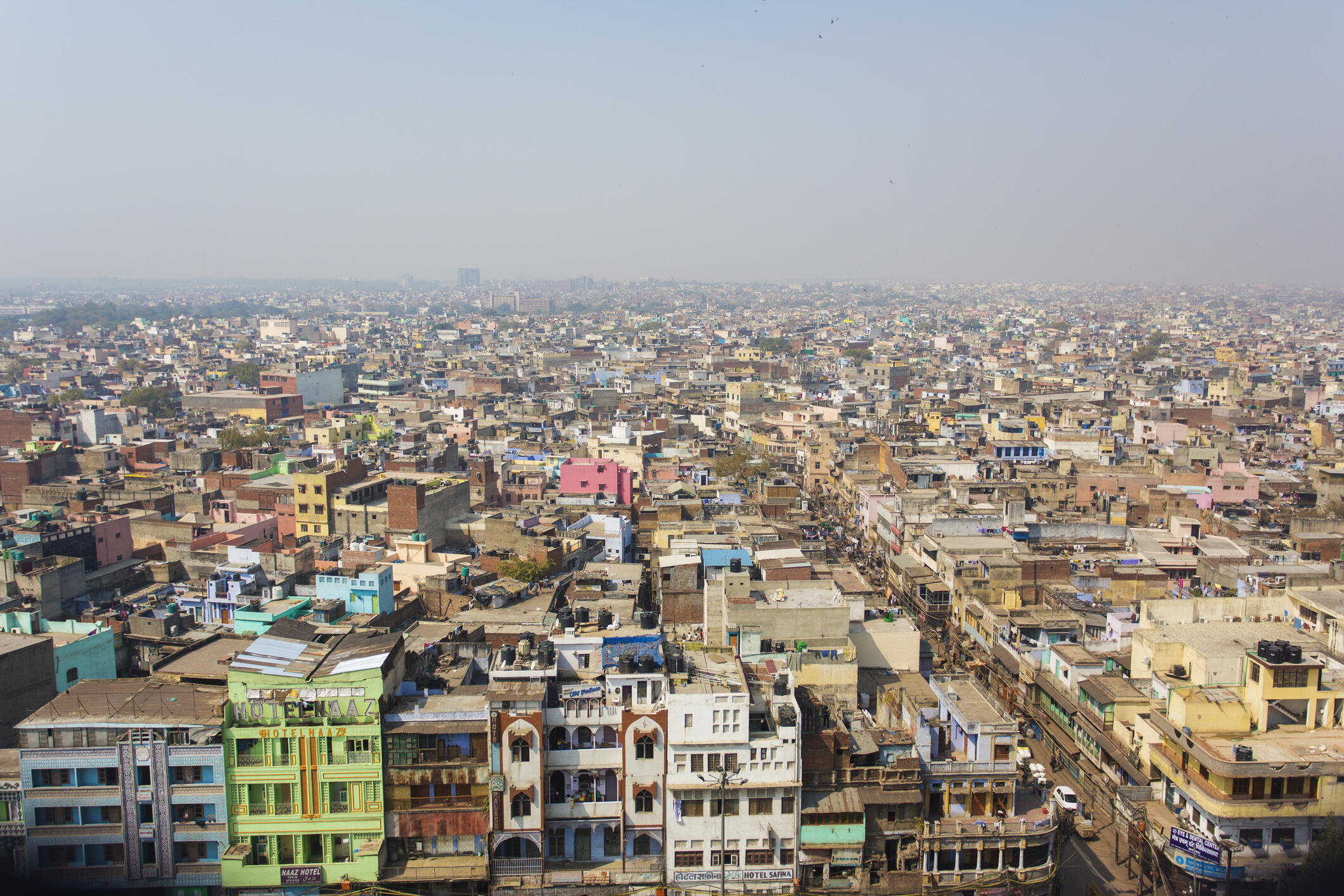 存檔圖片:印度首都新德里 Image d'archive: Vue aérienne de New Delhi, en Inde.