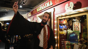 People shop inside the New York's Harry Potter store as it opened to the public on June 3, 2021