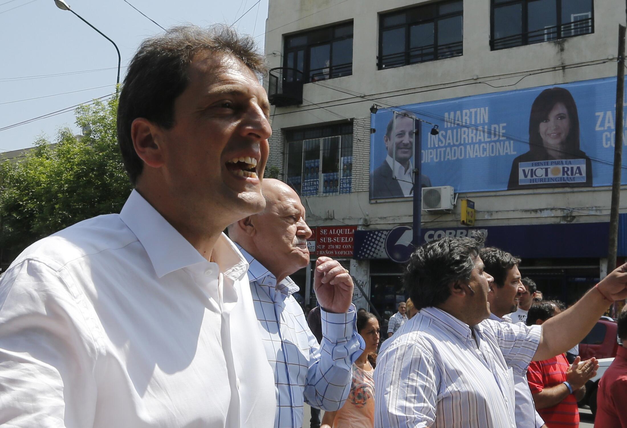 Sergio Massa, maire de Tigre, péroniste dissident, est bien placé dans les sondages à la veille de l'élection de dimanche 27 octobre.