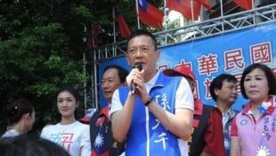 台湾总统大选国民党候选人韩国瑜竞选办公室副执行长孙大千资料图片