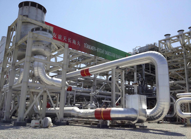 Газоперегонный завод в Галкыныше (Туркменистан) 04/09/2013