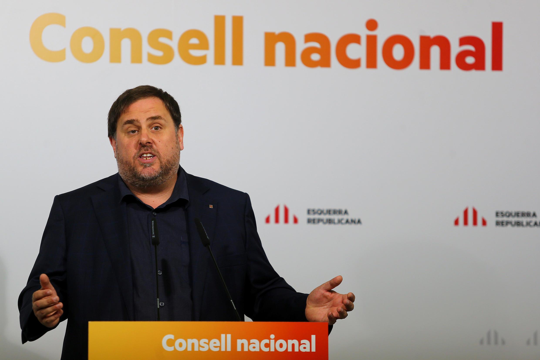 O vice-presidente da Catalunha, Oriol Junqueras, disse que não haverá debate com Madri se a questão da independência for excluídas das negociações.