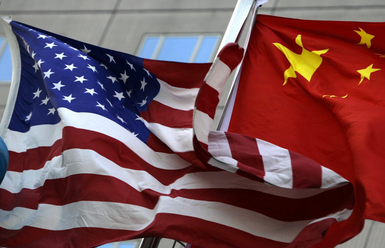 中美國旗  2010年2月4日北京
