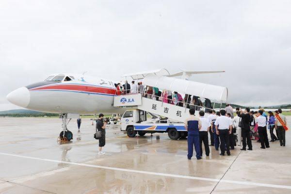 中国游客赴朝鲜。