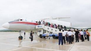 中國遊客赴朝鮮。