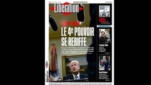 Capa do jornal Libération desta sexta-feira (3).