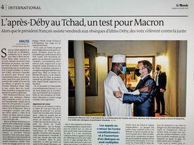 Le Monde sobre a política francesa no Chade.