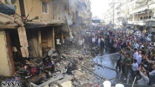 Moja ya matukio ya ulipuaji wa mabomu yaliyotekelezwa hivi karibuni mjini Damascus
