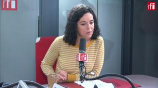 Manon Aubry sur RFI le 3 janvier 2020.