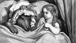 Ilusytración de Gustave Doré del cuento 'Caperucita Roja'.