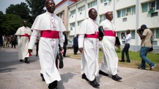 Les membres de la Cenco congolaise, le 21 décembre 2016, à Kinshasa.