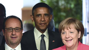 François Hollande, Barack Obama e Angela Merkel