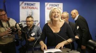 Marine Le Pen Jagorar Jam'iyyar kishin kasa ta Faransa.