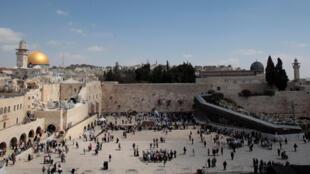 Mur des lamentations à Jérusalem.