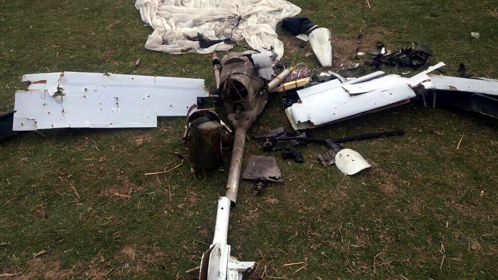 Un drone arménien, que l'armée azerbaïdjanaise assure avoir abattu récemment.