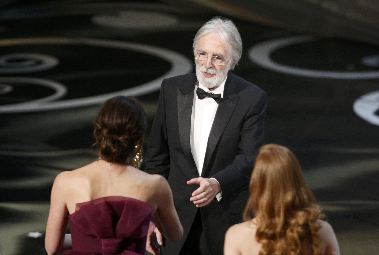 O diretor austríaco, Michael Haneke, premiado do oscar de melhor filme em língua estrangeira.
