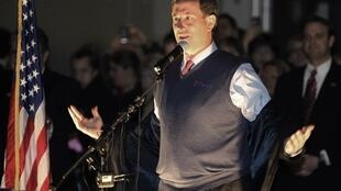 Candidate Rick Santorum at a campaign rally at the Washington State History Museum in Tacoma, 13 February, 2012