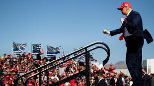 US President Donald Trump at a campaign rally in Bullhead City, Arizona