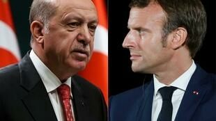 Turkish President Recep Tayyip Erdogan and French leader Emmanuel Macron have been at loggerheads over a range of issues