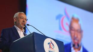 El líder de Ennahda Rached Ghannouchi.