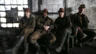 Шахтеры угольной шахты Горняк 95 в Макеевке под Донецком