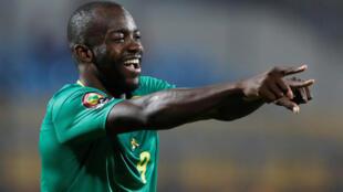 Le Camerounais Stéphane Bahoken, buteur face à la Guinée-Bissau, à la CAN 2019.