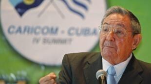O presidente cubano, Raúl Castro.