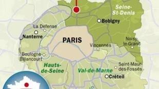 巴黎大區地圖