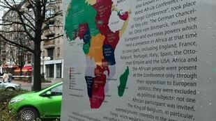 Sign in Berlin highlights the impact global colonialsim had across Africa