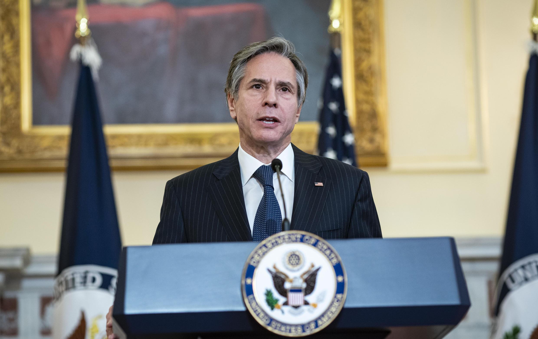 El secretario de Estado, Antony Blinken, en Washington, el 5 de abril de 2021