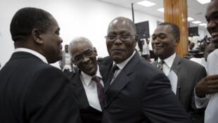 Jocelerme Privert a remporté la présidence provisoire de la République, à Port-au-Prince, le 14 février.