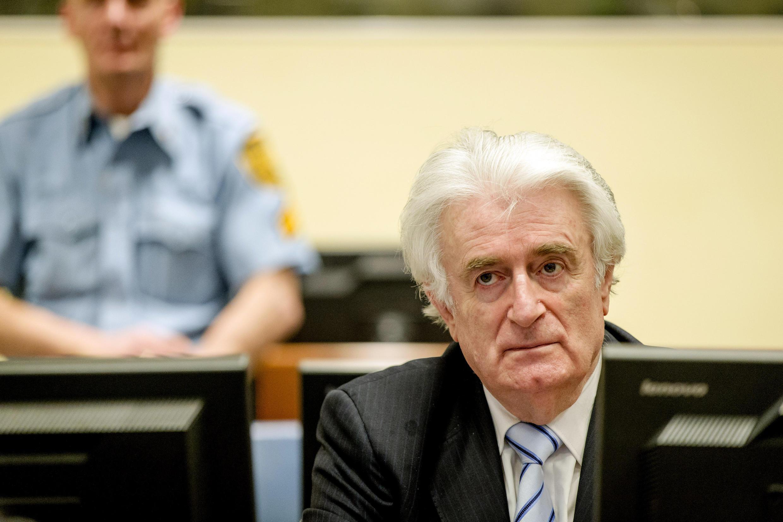 Radovan Karadzic, lors du verdict de son procès au Tribunal pénal international pour la Yougoslavie.
